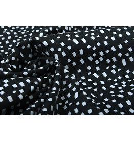 Stenzo 100% Digital Cotton Squares Black  White