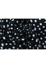 Stenzo 100% Digitaal Katoen Squares Zwart Wit