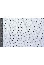 Stenzo 100% Digitaal Katoen Spots and Stripes Wit