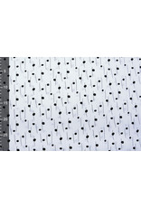 Stenzo 100% Digital Baumwolle Spots and Stripes Weiß