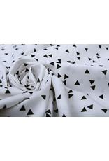 100% Digital Baumwolle Dreiecke Weiß Schwarz