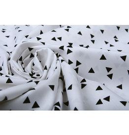 100% Digitaal Katoen Driehoekjes Wit Zwart
