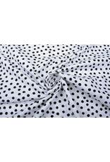 100% Digital Baumwolle Little Bubbles Weiß Schwarz