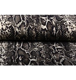 Viscose Slangenprint Bruin