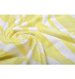 Viskose Jersey Sommer Streifen Gelb