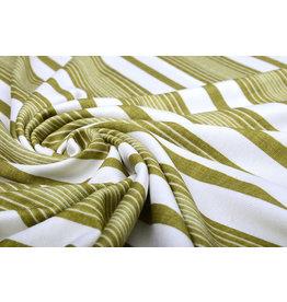 Viscose Jersey Summer Stripes Moss Green