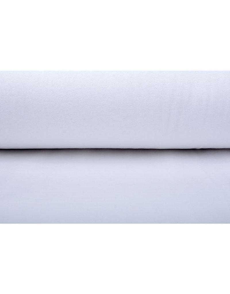 100% Baumwolle Flanell Weiß