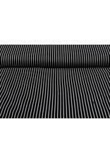 Baumwoll-Stretch Streifen Schwarz Weiß