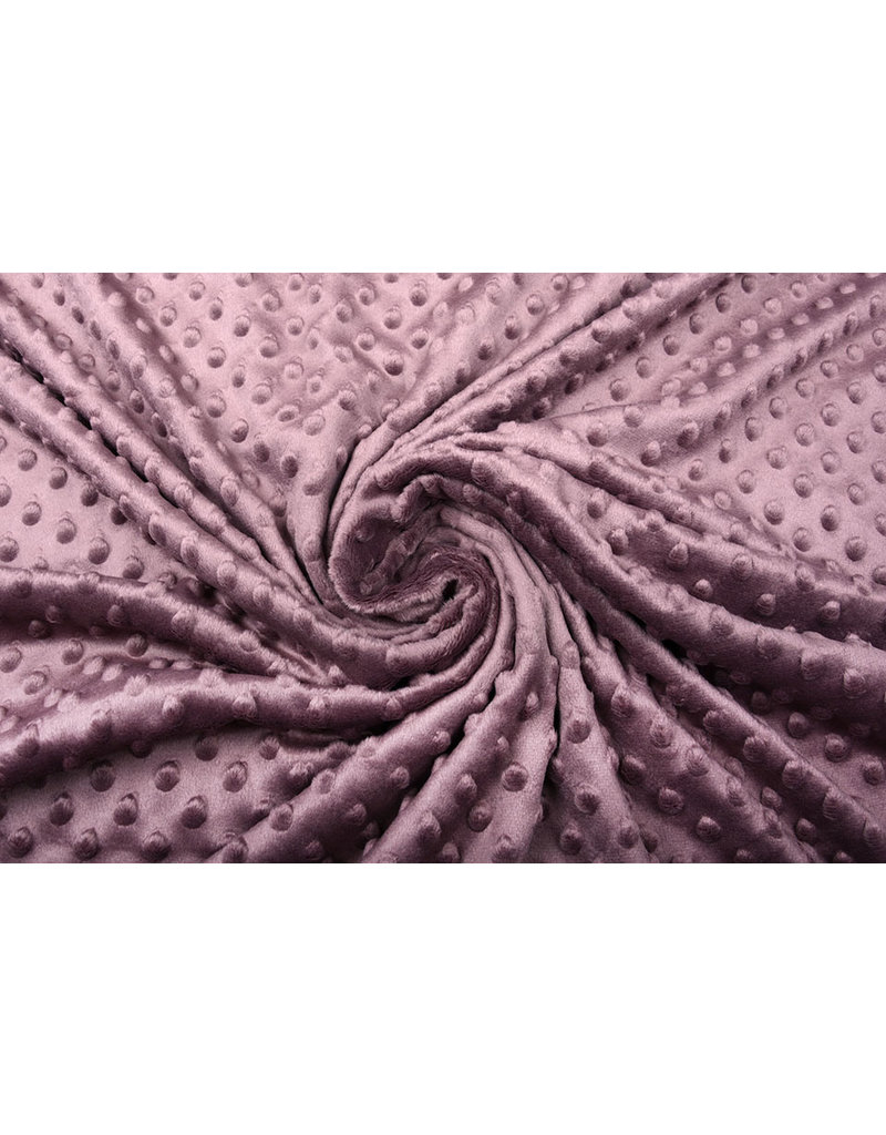 MicroFleece Fabric Material by the meter aubergine width 160 cm per metre
