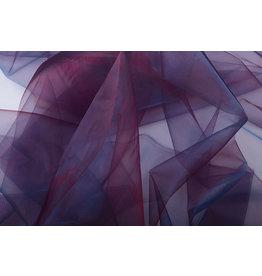 Organza Two-Tone Bordeaux-Blau