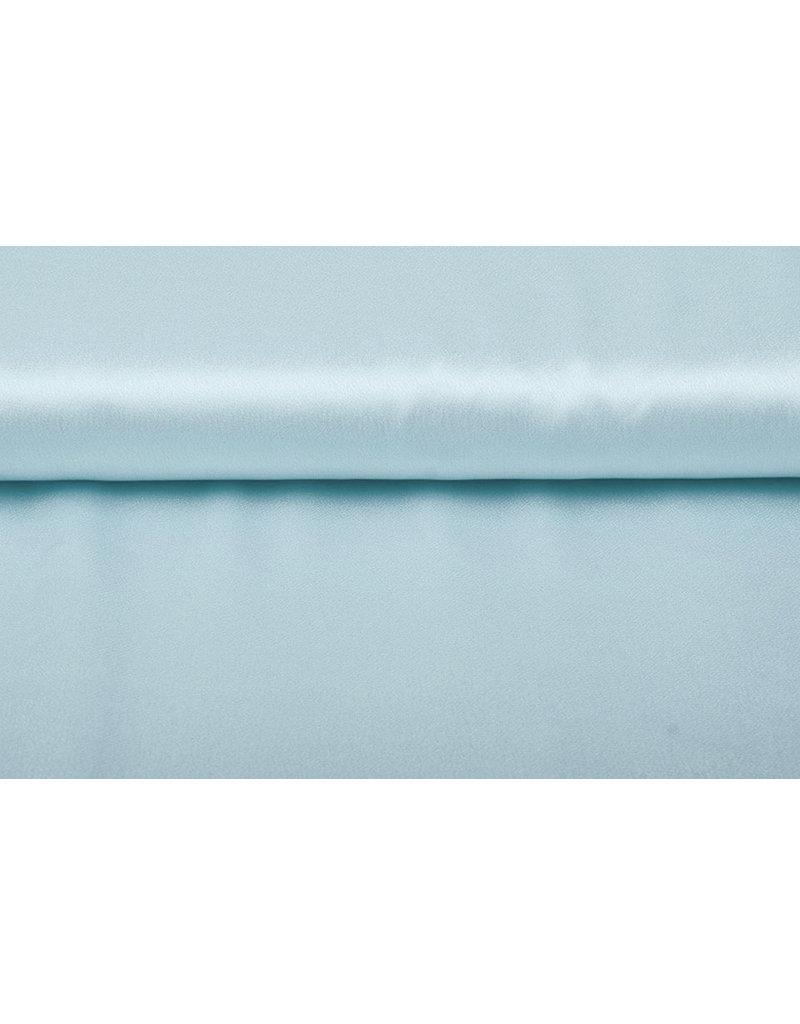 Crêpe Satijn Grijs-blauw