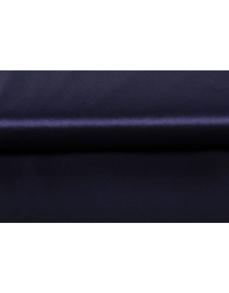 Charmeuse Futter Marineblau