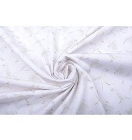 Stenzo 100% Digital Baumwolle Spatzen Weiß Sand