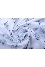 Stenzo 100% Digital Baumwolle Spatzen Weiß Marine