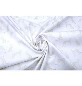 Stenzo 100% Digital Cotton Leopard White Sand