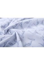 Stenzo 100% Digital Baumwolle Leopard Weiß Marine