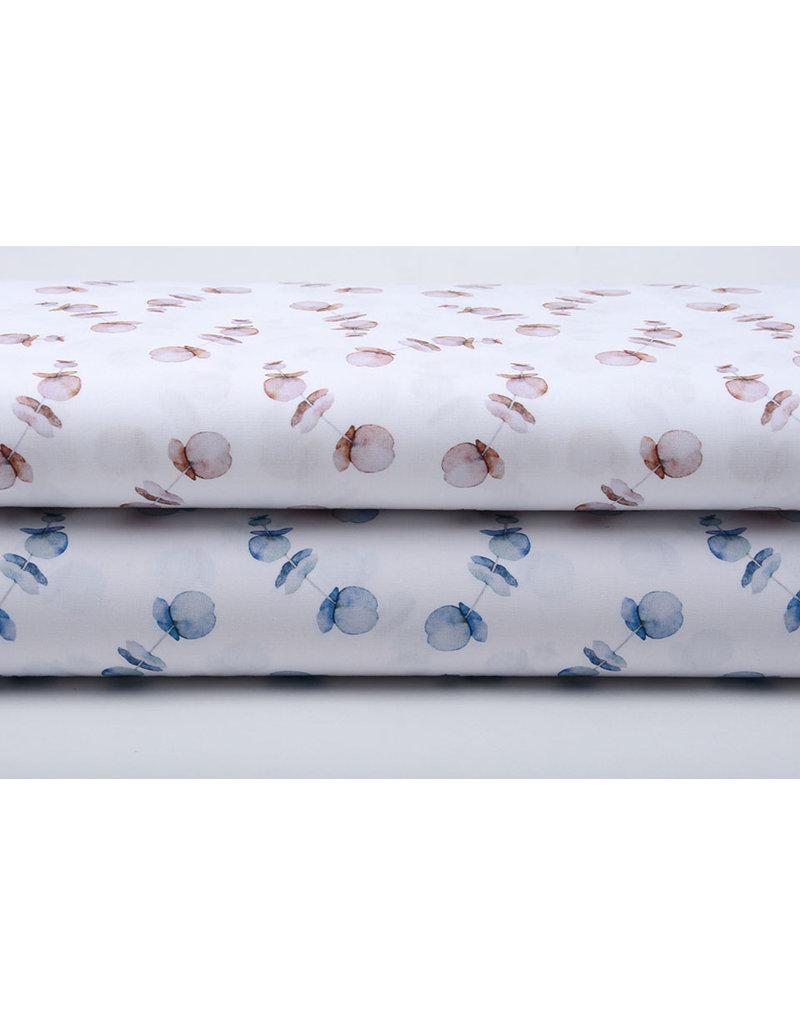 Stenzo 100% Digital Baumwolle Mohn Blau