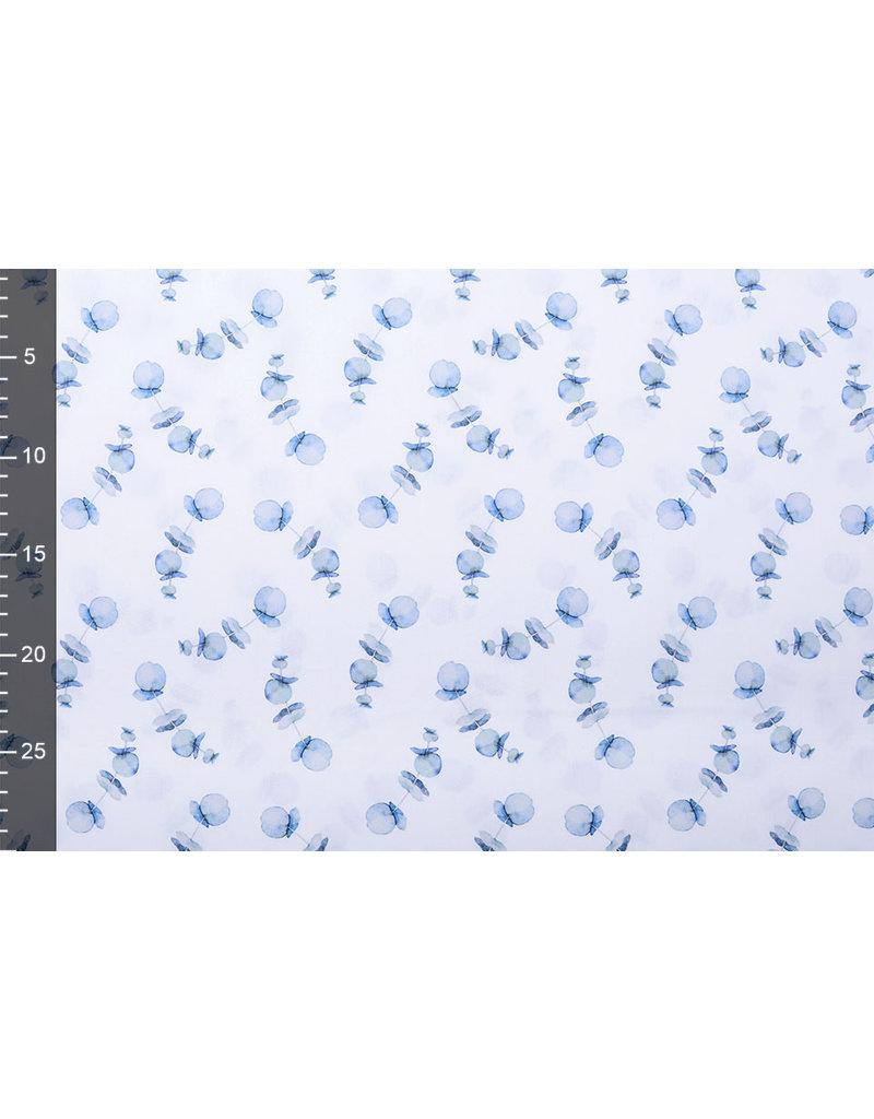Stenzo 100% Digitaal Katoen Papaver Blauw
