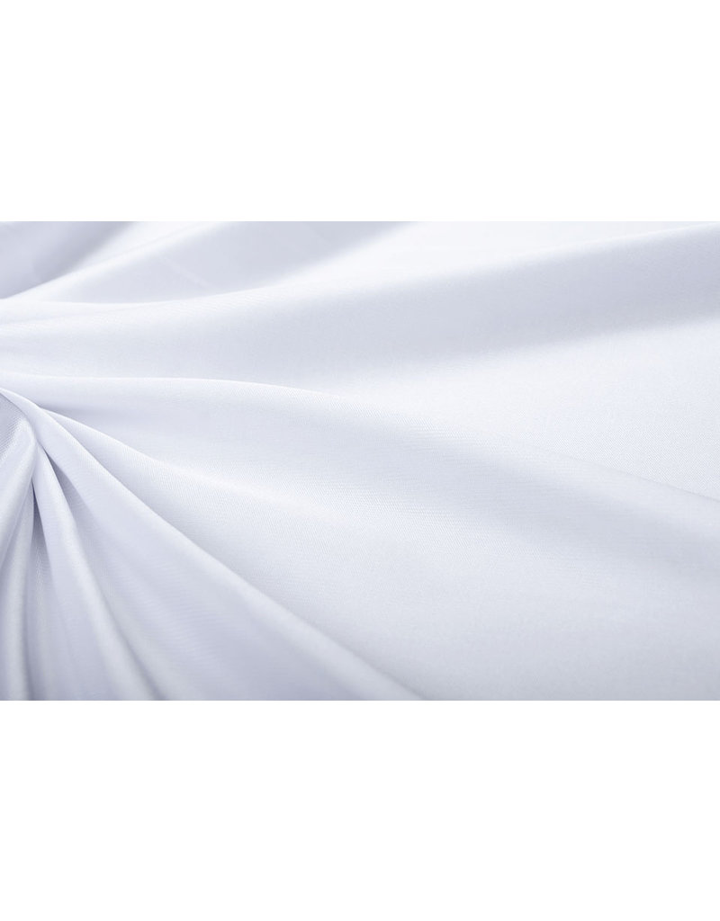 Charmeuse Futter Weiß