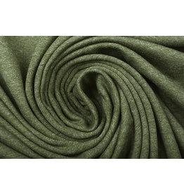 Oeko-Tex®  Cotton Jersey Army Green Melange