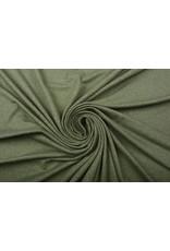 Oeko-Tex®  Baumwolljersey Armeegrün Melange