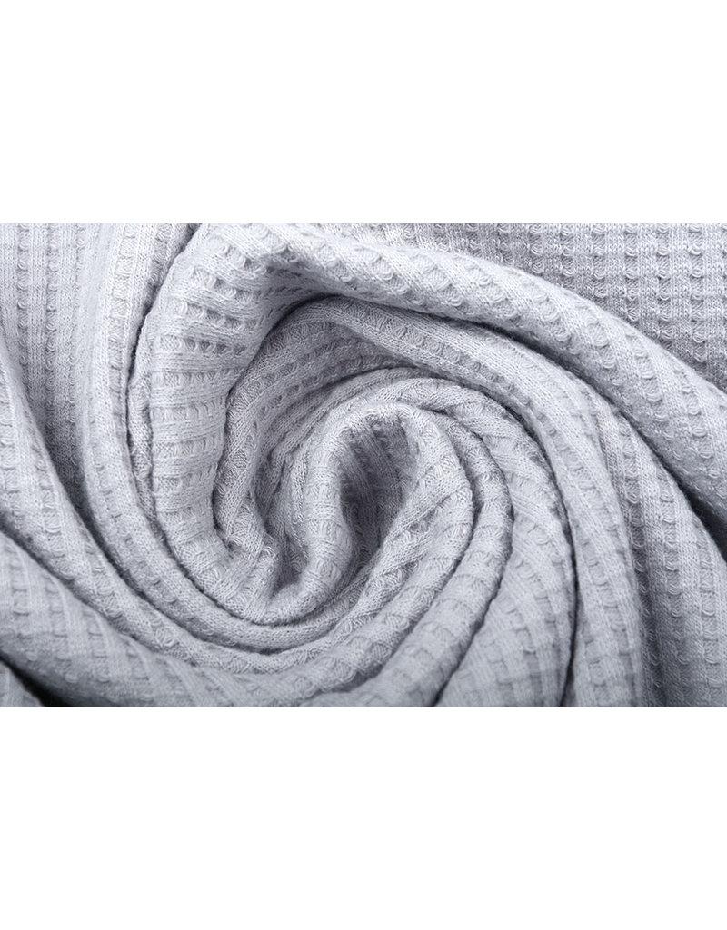 Stenzo Baby Jersey Waffelpiqué Baumwolle Grau