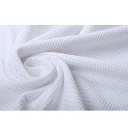 Stenzo Baby Jersey Waffelpiqué Baumwolle Weiß