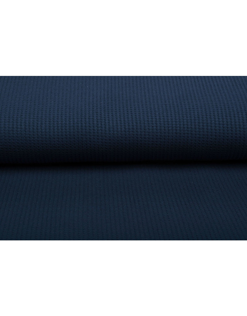 Stenzo Baby Jersey Waffelpiqué Baumwolle Marine Blau