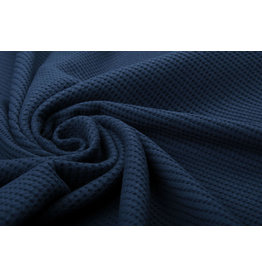 Stenzo Baby Jersey Waffle Pique Fabric Navy Blue