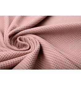 Stenzo Baby Jersey Waffle Pique Fabric  Powder Pink