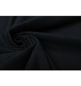 Stenzo Baby Jersey Waffle Pique Fabric Black