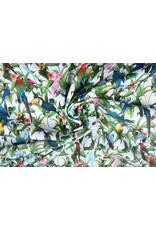 Stenzo 100% Digital Baumwolle Papageien Weiß