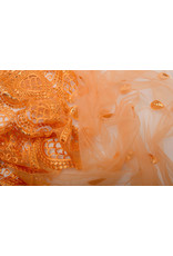 Netz Bestickt Qatra Orange