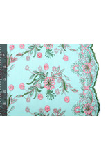 Mesh Embroidered Fjura Green Pink