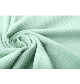 Stenzo Baby Jersey Waffle Pique Fabric Light Old Green