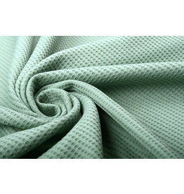 Stenzo Baby Jersey Waffle Pique Fabric Old Green