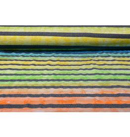 Jersey Viscose Big Stripe Multicolor 5