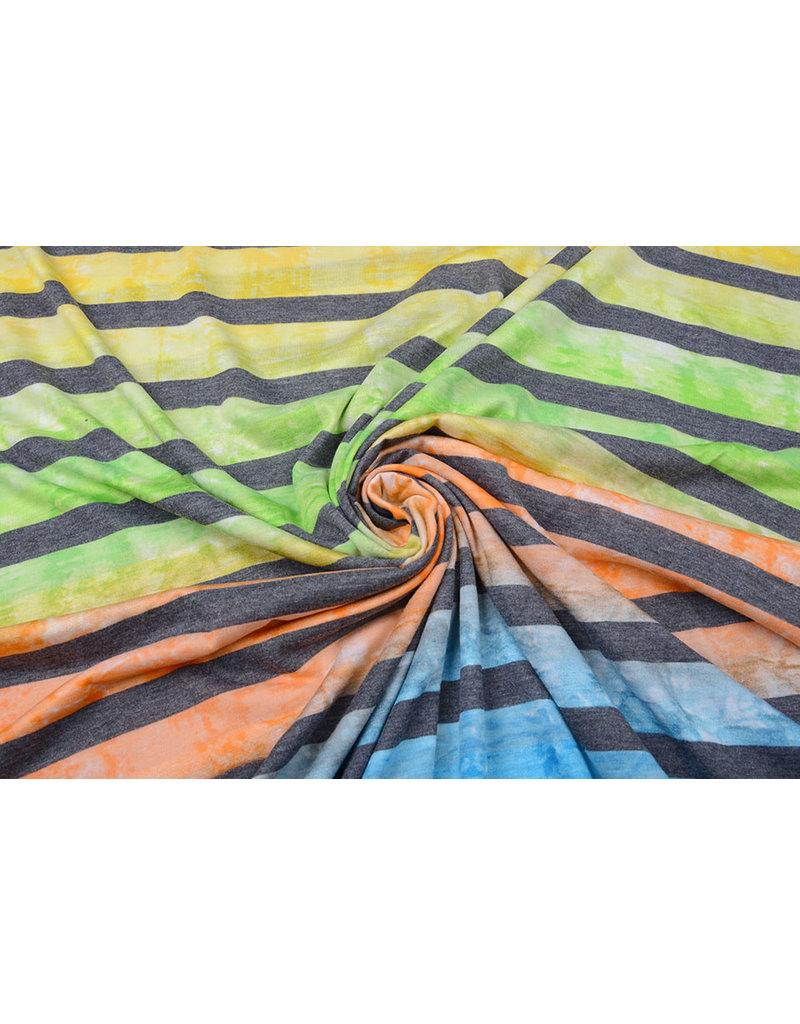 Jersey Viskose Große Streifen Multicolor 5