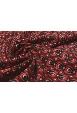 Scuba Crepe Printed Retio Red