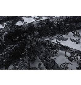 Mesh Embroidered Kanapa Black