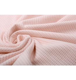 Stenzo Baby Jersey Waffle Pique Fabric Light Pink