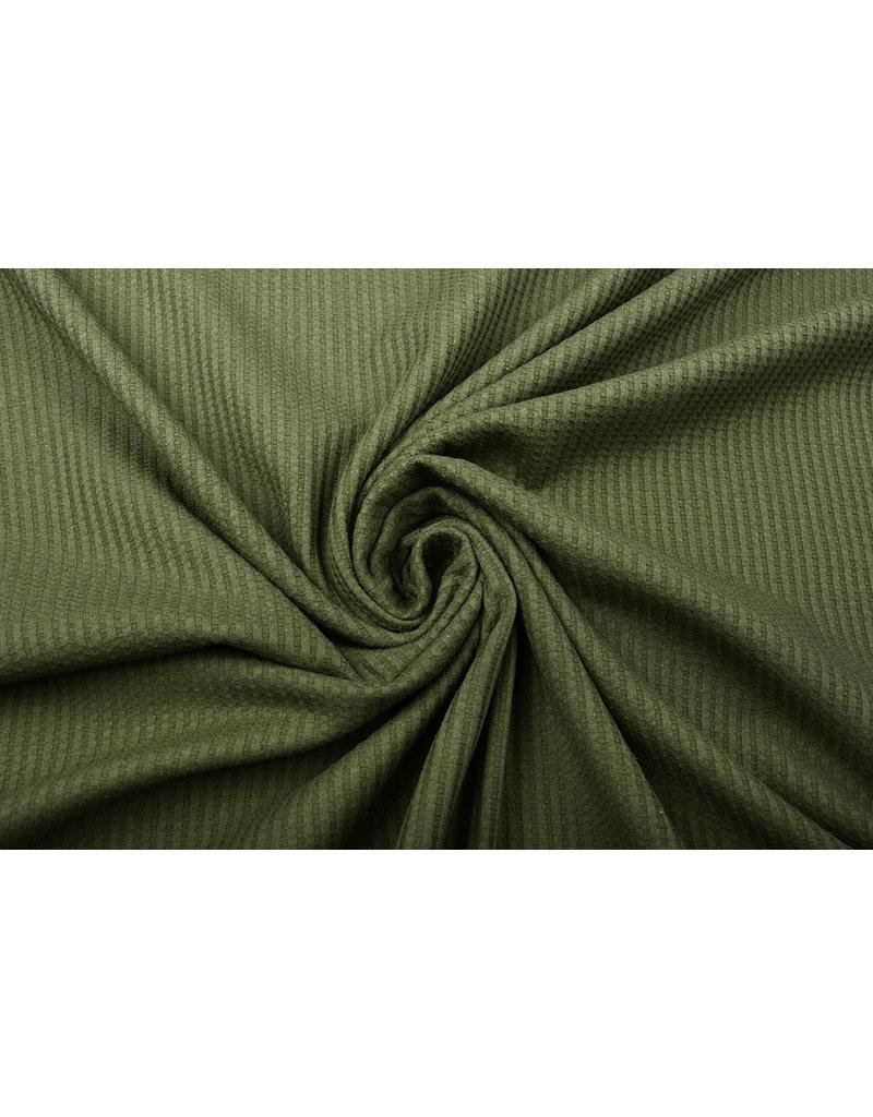 Stenzo Baby Jersey Waffelpiqué Baumwolle Armeegrün