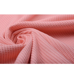 Stenzo Baby Jersey Waffle Pique Fabric Coral