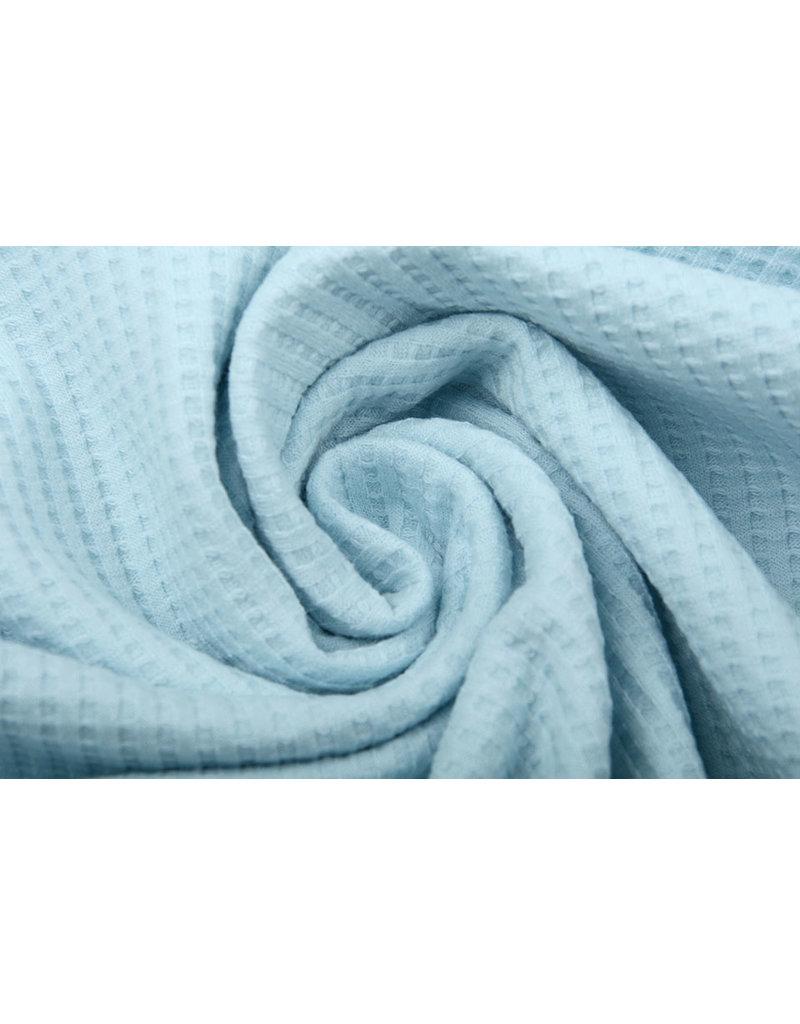 Stenzo Baby Jersey Waffelpiqué Baumwolle Babyblau