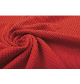 Stenzo Baby Jersey Waffelpiqué Baumwolle Rot