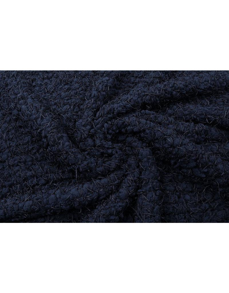 Fancy Bouclé Marine Blau
