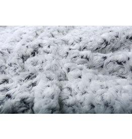 Short Hairy Fur Roses-2-Tone Aubergine White