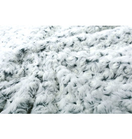 Short Hairy Fur Roses-2-Tone Green White