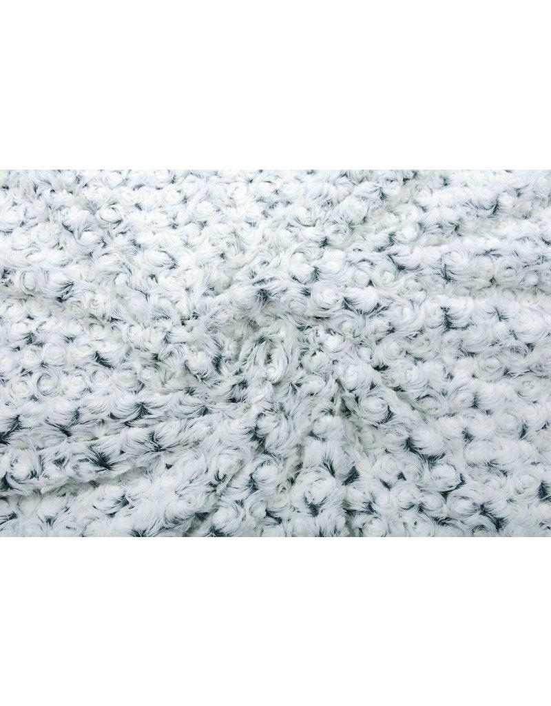 Kurz Zottelplüsch Roses-2-Tone Grün Weiß