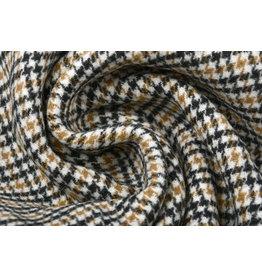 Woven Woolen Fabric Fine Checkered Brown